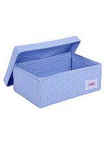 Minene Small Blue Check Storage Box