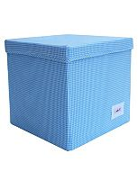 Minene Storage Cube - Blue Check