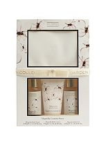 The Garden Collection Magnolia Cosmetic Purse with Travel Sized Toiletries