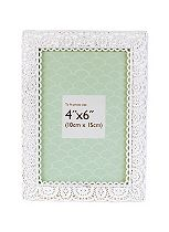 Innova Editions White Laser Cut Photo Frame - 6 x 4