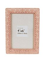 Innova Editions Pink Laser Cut Photo Frame - 6 x 4