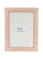 Innova Editions Pink Laser Cut Photo Frame- 7 x 5