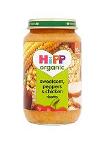 HiPP Organic Sweetcorn, Peppers & Chicken Risotto 10+ Months 220g