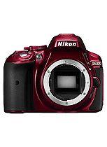 Nikon D5300 (Body Only) (24.2MP, 3.2 Inch Vari-angle LCD) Digital SLR Camera- Red