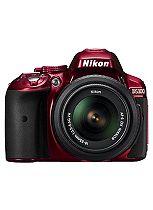 Nikon D5300 (18- 55mm VR Lens II) (24.2MP, 3.2 Inch Vari-angle LCD) Digital SLR Camera- Red