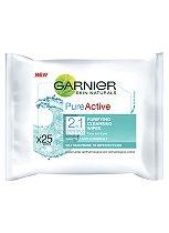 Garnier Pure Active 2 in 1 Wipes
