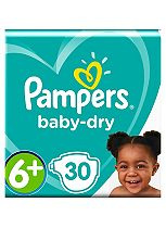 Pampers Baby Dry Size 6+ (Extra Large+) Essential Pack 30 Nappies