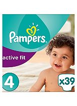 Pampers Premium Protection Active Fit Size 4 Essential Pack - 39 Nappies