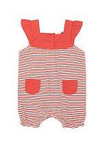 Baby Girls Red Striped Romper - Mini Club