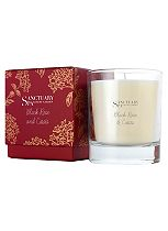 Sanctuary Spa Black Rose & Cassis Candle