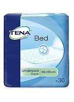 TENA Bed Underpad 60 x 60cm Super - 150 Underpads (5 x 30)