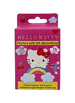 Hello Kitty plasters with felt decorations - 16 plasters