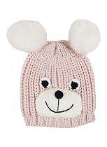 Mini Club Girls Bear Hat Pink