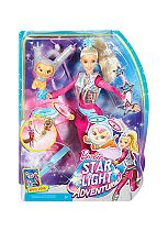 BARBIE galaxy barbie doll and hover cat