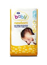 Boots Baby Newborn & Low Birth Weight Size 0 Nappies - 24 Nappies