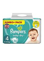 Pampers Baby Dry Size 4 (Maxi) Jumbo Plus Pack 78 Nappies