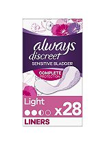 Always Discreet Incontinence Light Liners For Sensitive Bladder 28