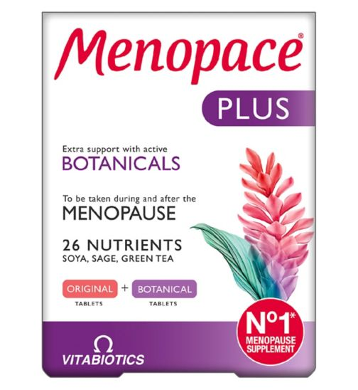 Vitabiotics Menopace Plus Tablets - 2 x 28