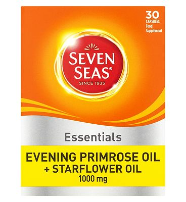 Seven Seas Evening Primrose Oil & Starflower Oil Capsules - 30 x 1000 mg