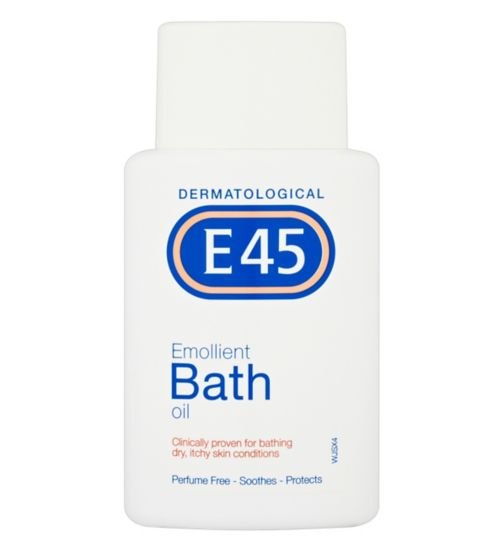 E45 Emollient Bath Oil for Dry Skin & Itchy Skin -250ml