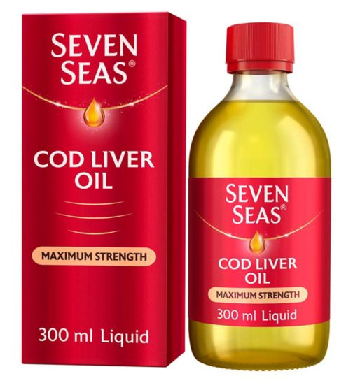Seven Seas Simple Timeless Omega-3 Fish Oil Plus Cod Liver Oil Maximum Strength - 300ml
