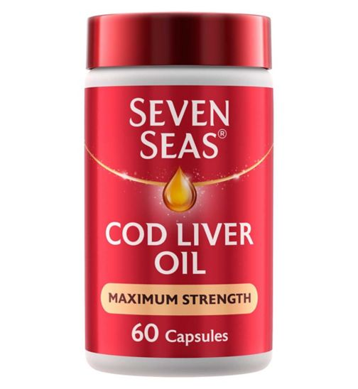 Seven Seas Cod Liver Oil Extra High Strength - 60 One-a-Day Capsules