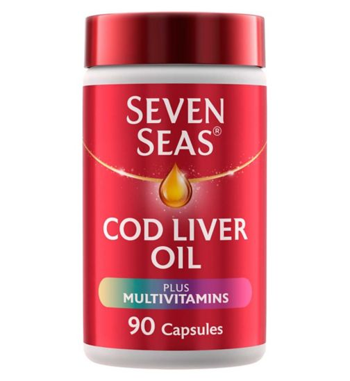 Seven Seas Simply Timeless Cod Liver Oil Plus Multivitamins - 90 capsules
