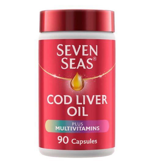 Seven Seas Simply Timeless Cod Liver Oil Plus Multivitamins - 90 capsules