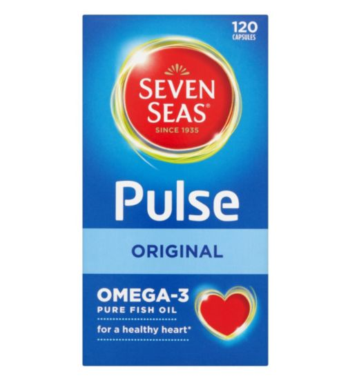 Seven Seas Pulse Original Omega-3 Pure Fish Oil - 120 Capsules