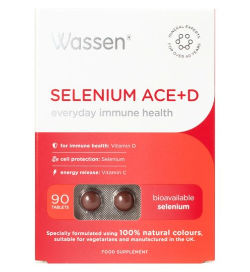 Wassen We Protect Immune Health Selenium ACE+D - 90 tablets