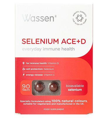 Wassen We Protect Immune Health. SELENIUM ACE+D. 90 tablets