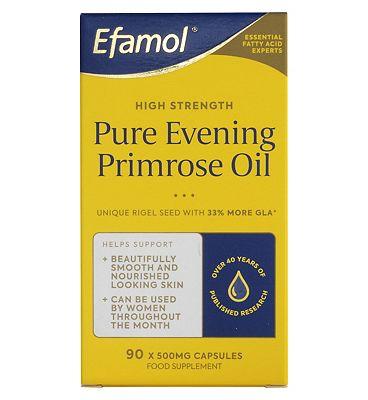 Efamol Woman. PURE RIGEL EVENING PRIMROSE OIL. 500mg. 90 Caspules