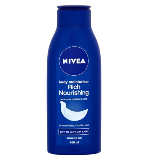 Nivea Rich Nourishing Body Moisturiser For Dry Skin 400ml
