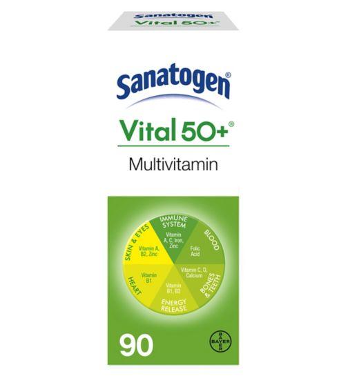 Sanatogen Vital 50  - 90 Tablets