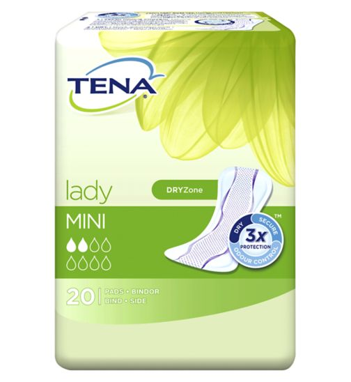 <p>TENA Lady Mini Pads - 20 pack</p>