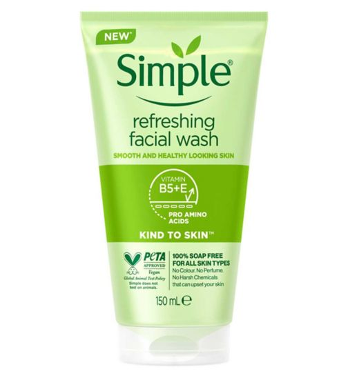Simple Kind to Skin Facial Wash Refreshing 150ml