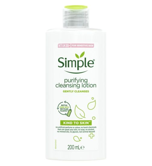 Simple Kind To Skin Purifying Cleansing Lotion 200ml