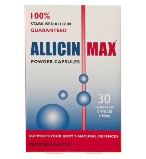 ALLICINMAX powder capsules - 30 vegetarian capsules