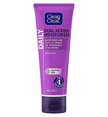 Clean & Clear Dual Action Oil-Free Moisturiser 100ml