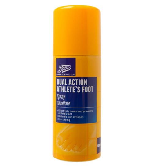 Boots Pharmaceuticals Dual Action Athlete's Foot Spray - 150ml</p>