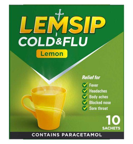 Lemsip Cold & Flu Lemon - 10 Sachets