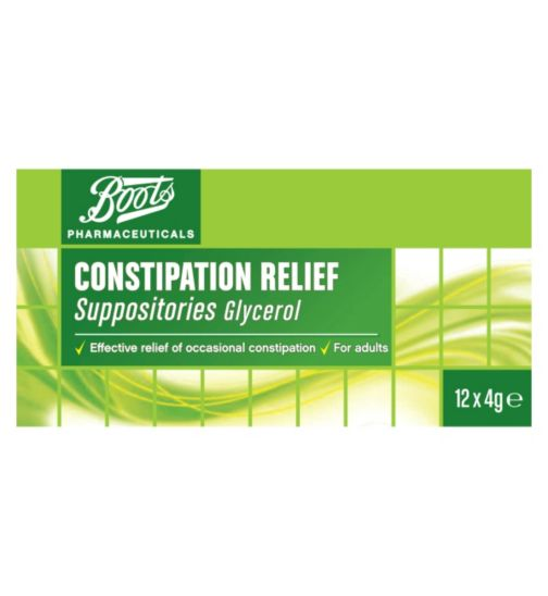 Boots Constipation Relief - 12 Suppositories