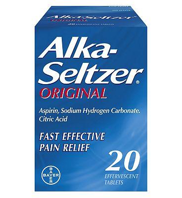 Alka-Seltzer Original 20 Effervescent Tablets