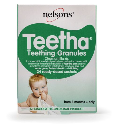 Nelsons Teetha Natural Teething Granules 24 Sachets