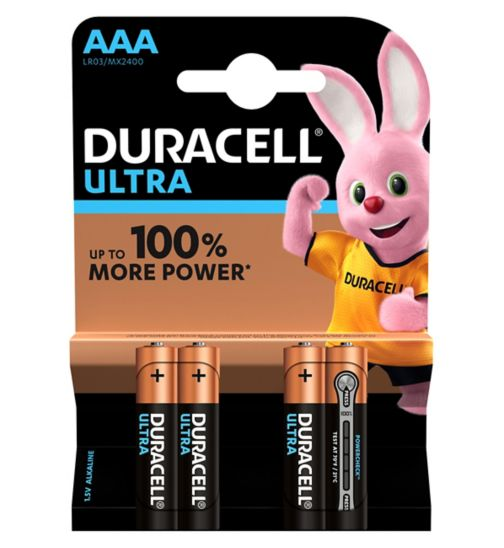Duracell Ultra Power AAA Alkaline Batteries - 4x pack