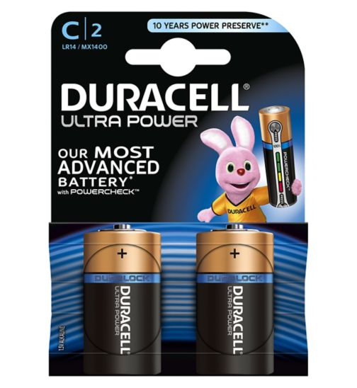 Duracell Ultra Power C-Battery Alkaline - 2x Pack