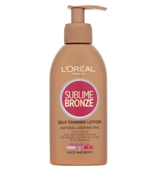 L'Oréal Paris Sublime Bronze Self-Tanning Lotion Face and Body 150ml