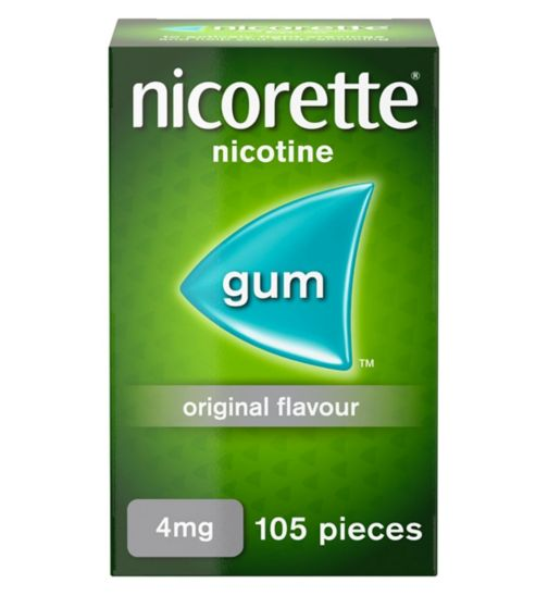 Nicorette Original Flavour Sugar Free Gum 4mg  - 105 Pieces