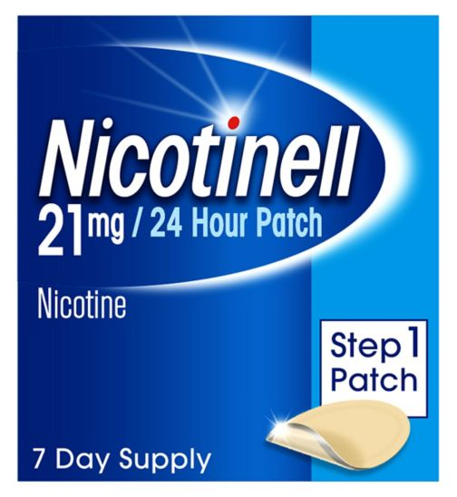 Nicotinell Nicotine Patch Stop Smoking Aid Step 1, 21 mg24 hour 7 patches