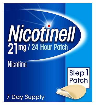 Nicotinell Nicotine Patch Stop Smoking Aid Step 1, 21mg24 hour 7 patches